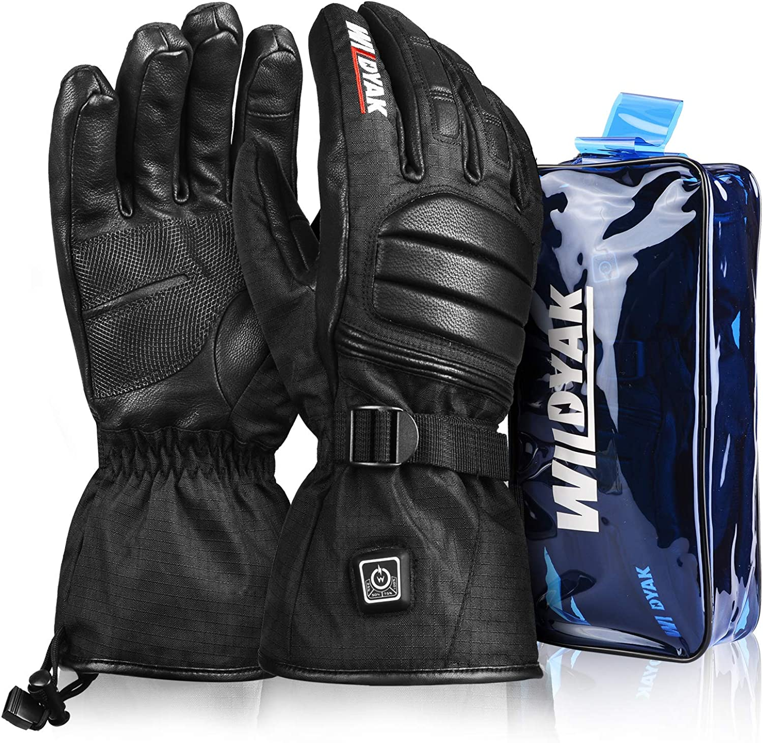 Heated Gloves for Men&Women, Rechargeable Electric Heated Gloves for Skiing, Heated Mittens for Raynaud's, Arthritis