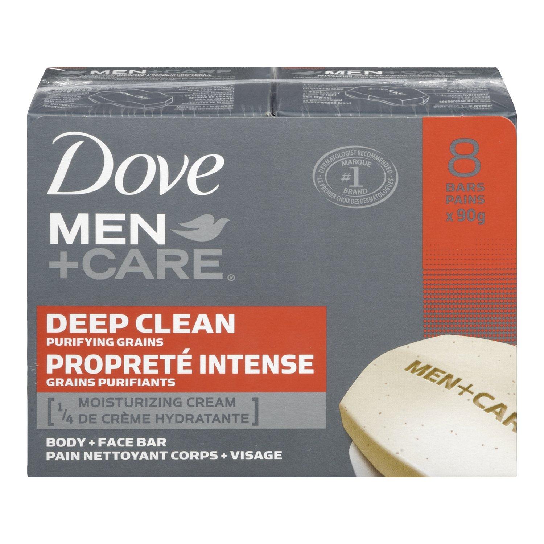 Dove Men+Care Oil Control Body & Face Bar 4x90g Dove Bar Men's+Care