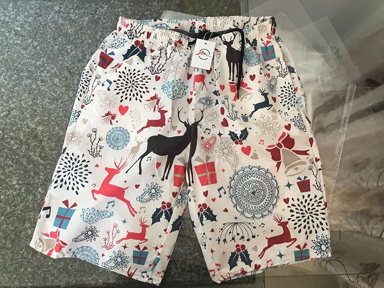 ZMvise Flamingos and Pineapples Swim Trunks Quick Dry Beach Board Home Water Sports Mens Shorts