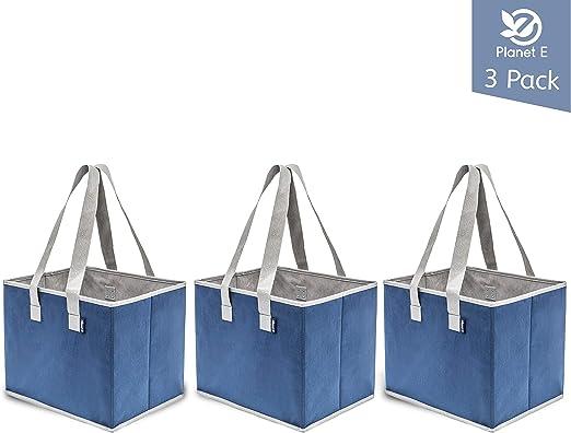 Amazon.com: Pack de 3 bolsas de la compra Planet E, para ...