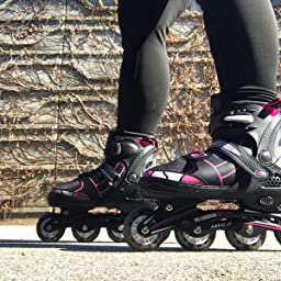 Amazon Com Customer Reviews Ancheer Inline Skates Adjustable Women Men Kids Roller Skates For Girls Boys Size 12 8 Aggressive Urban Toddler Skating Red Athena L 5 8 Us