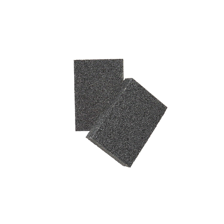 クリーニングスポンジウールwith & Carborundum – ブラックCaspian Stone – Best消しゴムスポンジforスクラブキッチン、バスルーム、ポット、鍋、洗面台 – Just add water洗剤必要ない B06XG8TSGK  4