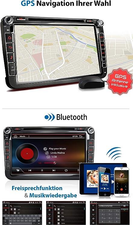 XM-2DA801 Radio de Coche Adecuado para VW Seat Skoda I con Android ...