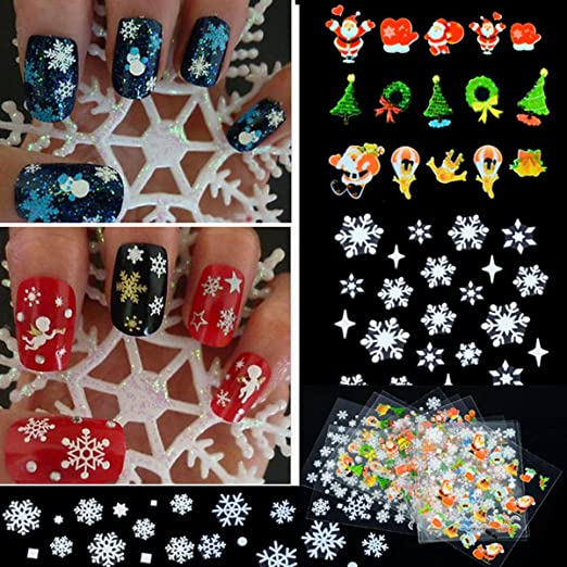 christmas sticker nails
