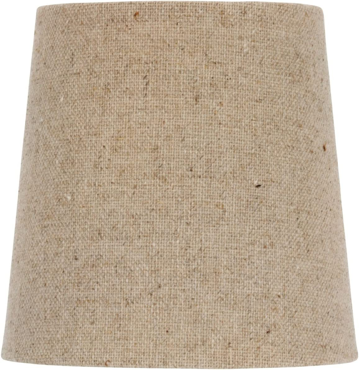 5 Inch European Drum Style Chandelier Lamp Shade Mini Shade Natural Belgium Linen Pack of 6