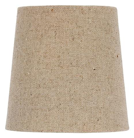 Upgradelights 5 inch clip on retro drum chandelier lamp shade in upgradelights 5 inch clip on retro drum chandelier lamp shade in natural burlap 4x5x5 aloadofball Choice Image