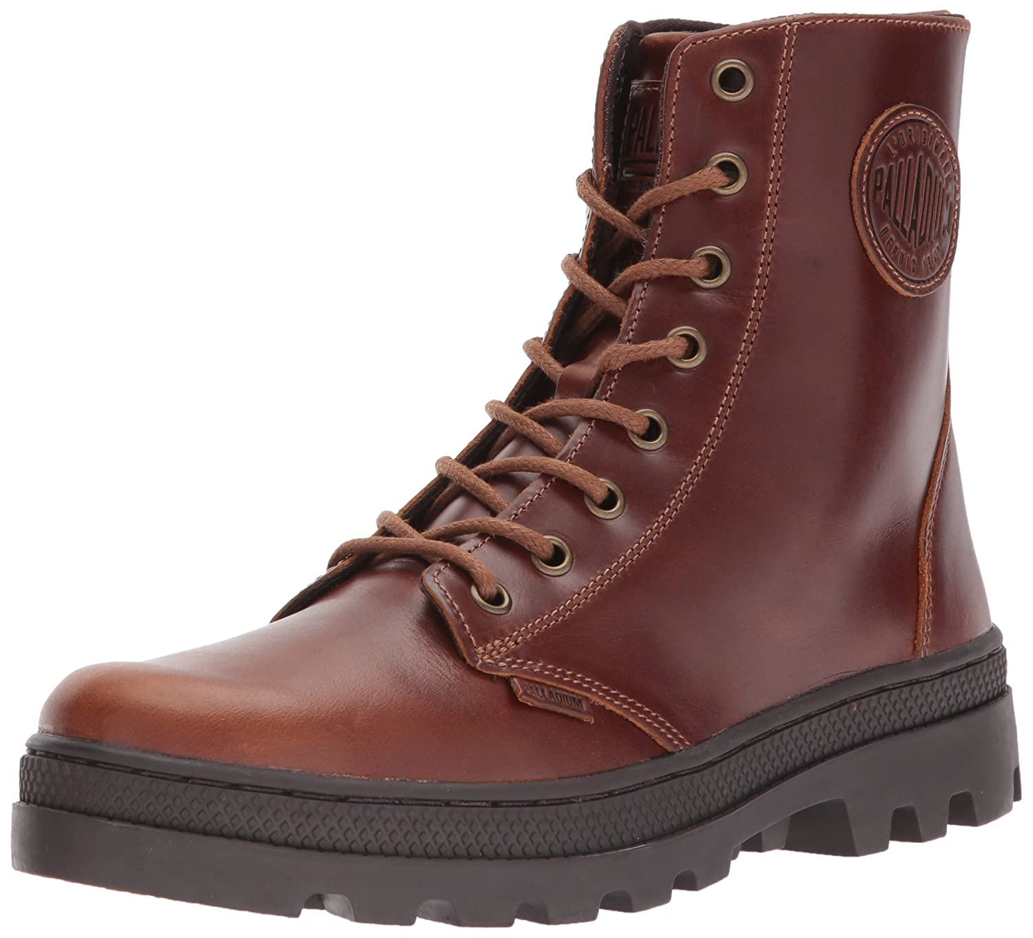 Palladium Women's Pallabosse Off Lea Chukka Boot B01MSDPXQJ 9 B(M) US|Sunrise/Chocolate