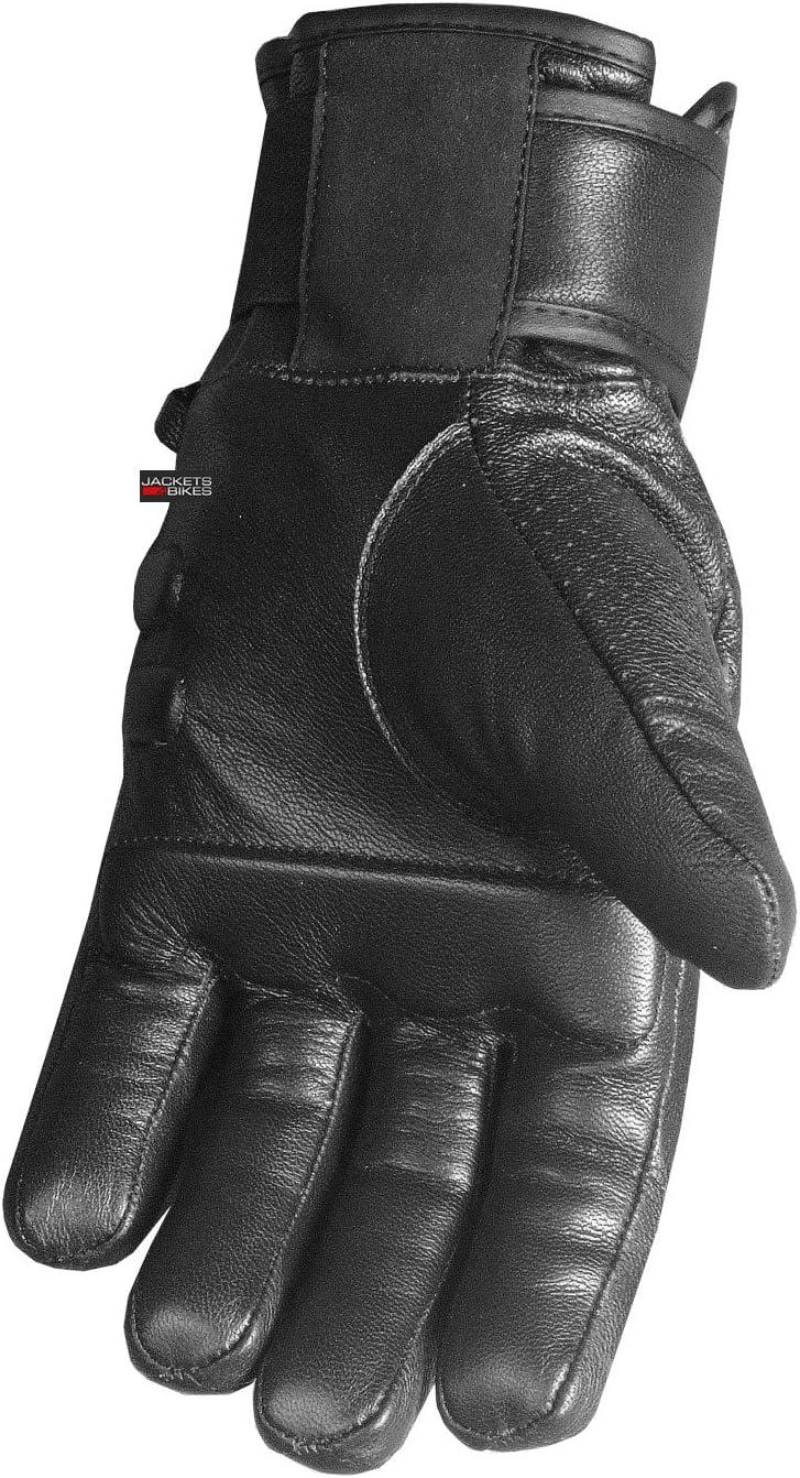 Mens Motorcycle Premium Perforated Leather Gel Palm Biker Cruiser Gloves L