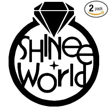 Shinee world kpop black set of 2 premium waterproof vinyl decal stickers