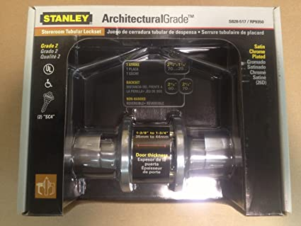 Stanley Storeroom Tubular Lockset Satin Chrome Architectural Grade