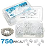 CQRobot 750 Pieces 2.0mm JST-PHR JST Connector Kit. 2.0mm Pitch Female Pin Header, JST PH - 2/3 / 4 Pin Housing JST Adapter Cable Connector Socket Male and Female, Crimp DIP Kit.