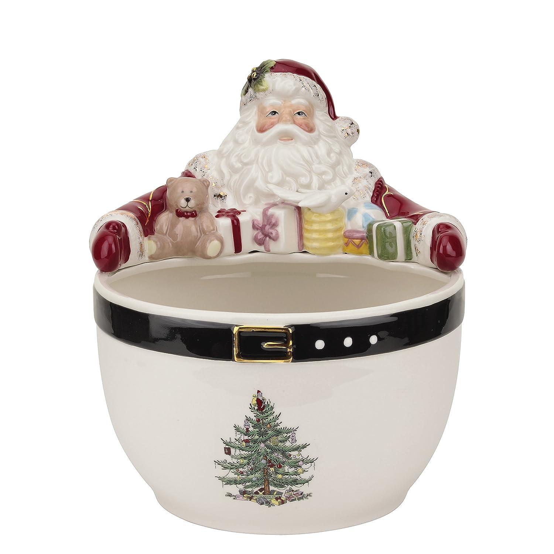Amazon Spode Christmas Tree Santa Nut Bowl Multicolor Kitchen