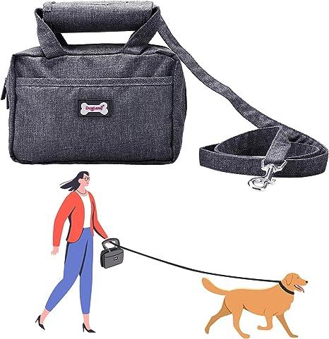 Pedomus Sac de laisse pour animaux chien multifonctionnel Sac de formation  avec laisse pour chien Marche Laisse avec fonctionnelle Ensemble de sac de  ...
