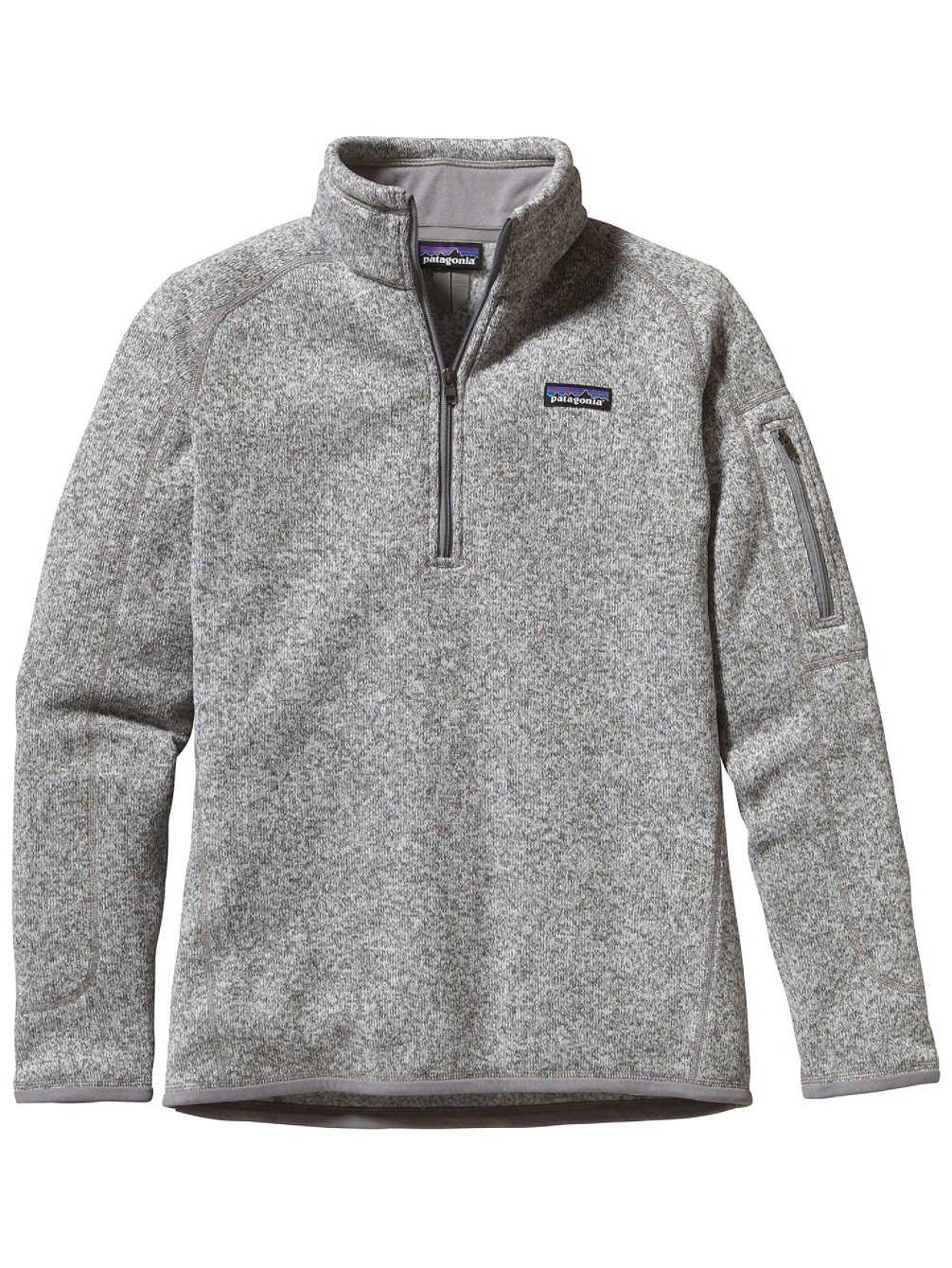 Patagonia  Women's  Sweater with 1/4 Zip Fleece - Medium - Birch White by Patagonia (Image #1)