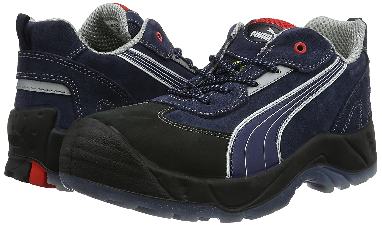 Puma Safety Shoes Skylon Low S1P ESD SRC, Puma 640680 310 Unisex Erwachsene Halbschuhe, Blau (blauweißschwarz 310), EU 41