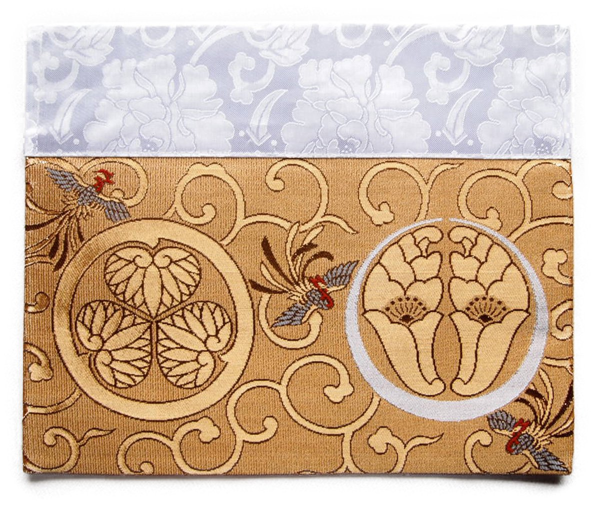 仏壇 打ち敷き (内敷き) 浄土宗 家紋 打敷き 四角 高級金らん布利用の一枚 (2尺60.6×31cm, 金色) B076H56SXC金色 2尺60.6×31cm
