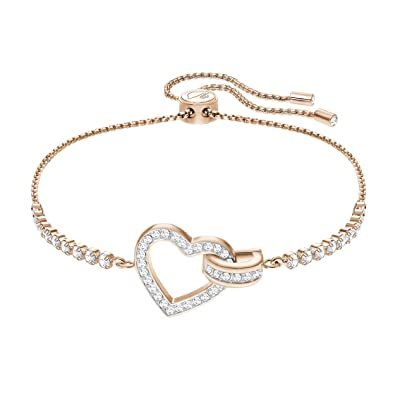 Swarovski Lovely Bracelet, White, Rose Gold Plating Amazon.co.uk Jewellery