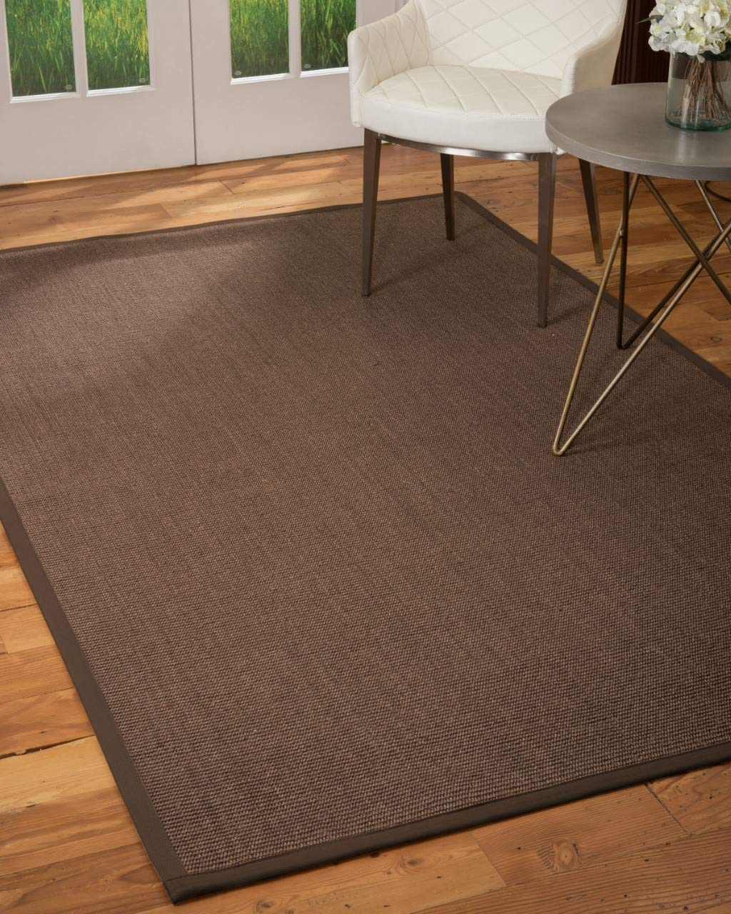 Natural Area Rugs Normandie, Dark Brown Sisal Rug, 3 x 5
