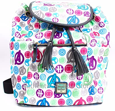 a38e820d7e Image Unavailable. Image not available for. Color  Disney Dooney   Bourke  Bag Marvel Avengers Icons Backpack White