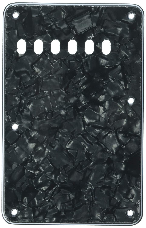 Kmise A7643 8 x 3層バックプレート キャビティートリムカバー 6弦 フェンダーストラットギター交換用 ブラックパール   B00S13MYXE