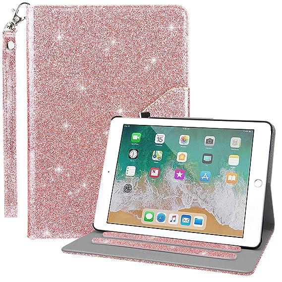 Dailylux Case for iPad Mini,iPad Mini 2 Case,iPad Mini 3 Case,360 Degree Rotating Stand Bling Case Cover with Card Slots for iPad Mini 1/2/3 w/Auto ...
