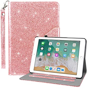 Dailylux Funda para iPad Mini,Funda para iPad Mini 3,iPad Mini 2 Funda Múltiples Ángulos Girando Stand Caso Bling Funda para Apple iPad Mini 1/2/3 ...