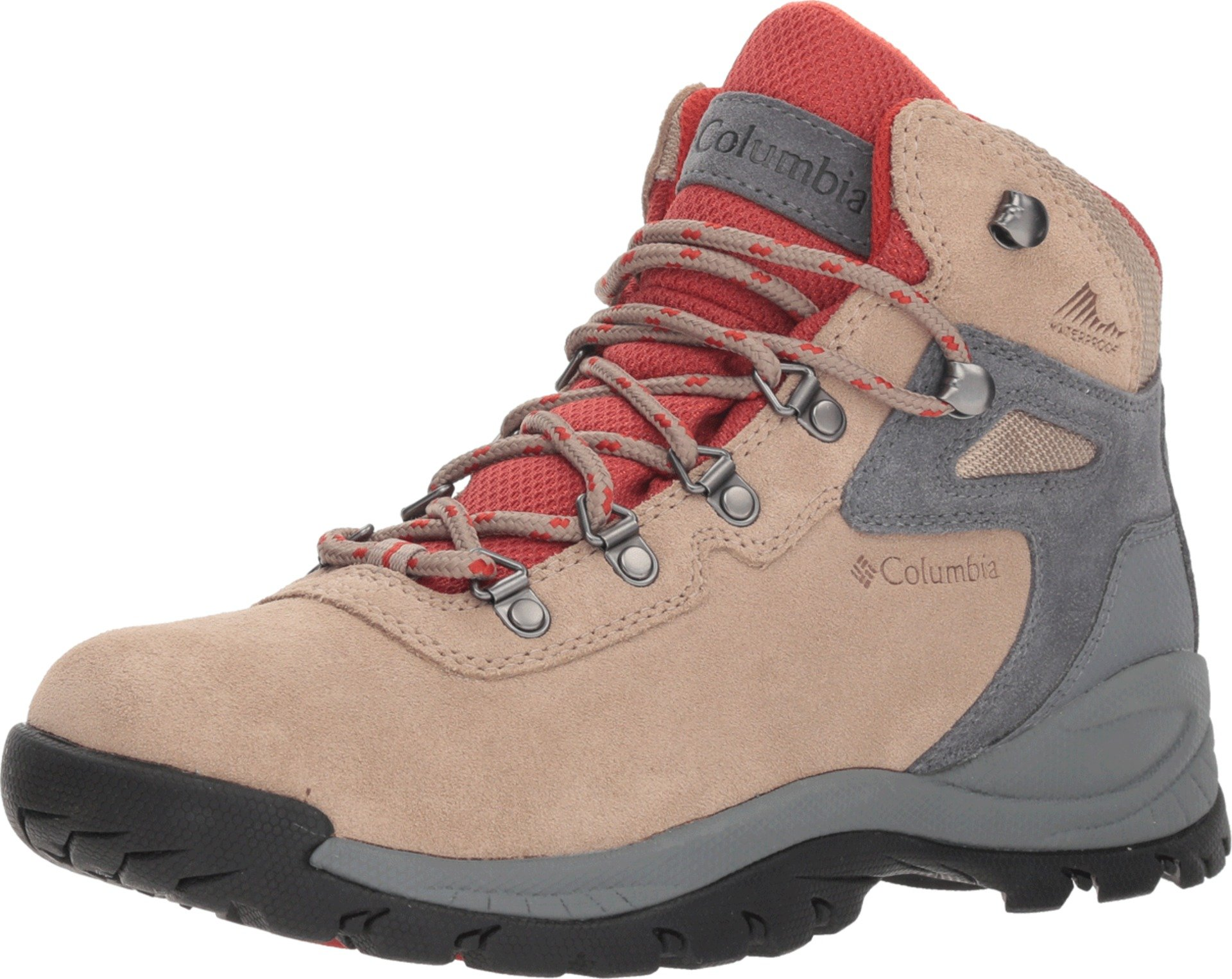 Columbia Women's Newton Ridge Plus Waterproof Amped Hiking Boot, Oxford Tan, Flame, 8.5 Wide US