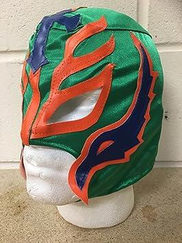 Rey Mysterio -Verde -Cremallera Máscara- NUEVO- WWE Wrestling Disfraz Disfraz