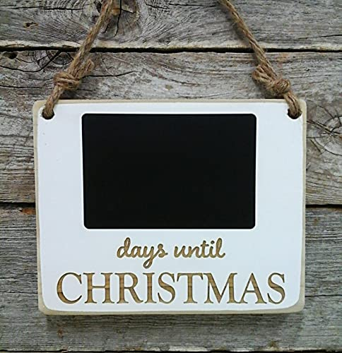 Countdown To Christmas Sign.Days Until Christmas Sign Christmas Wall Decor Christmas Chalkboard Sign Holiday Decor