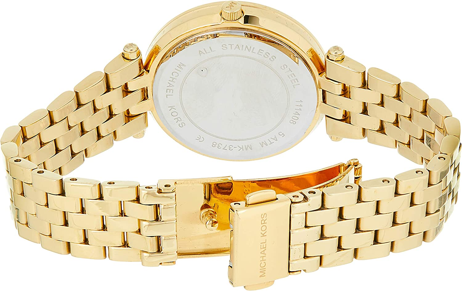 Michael Kors Women's Mini Darci Quartz Watch with Stainless-Steel Strap, Gold, 8 (Model: MK3738)