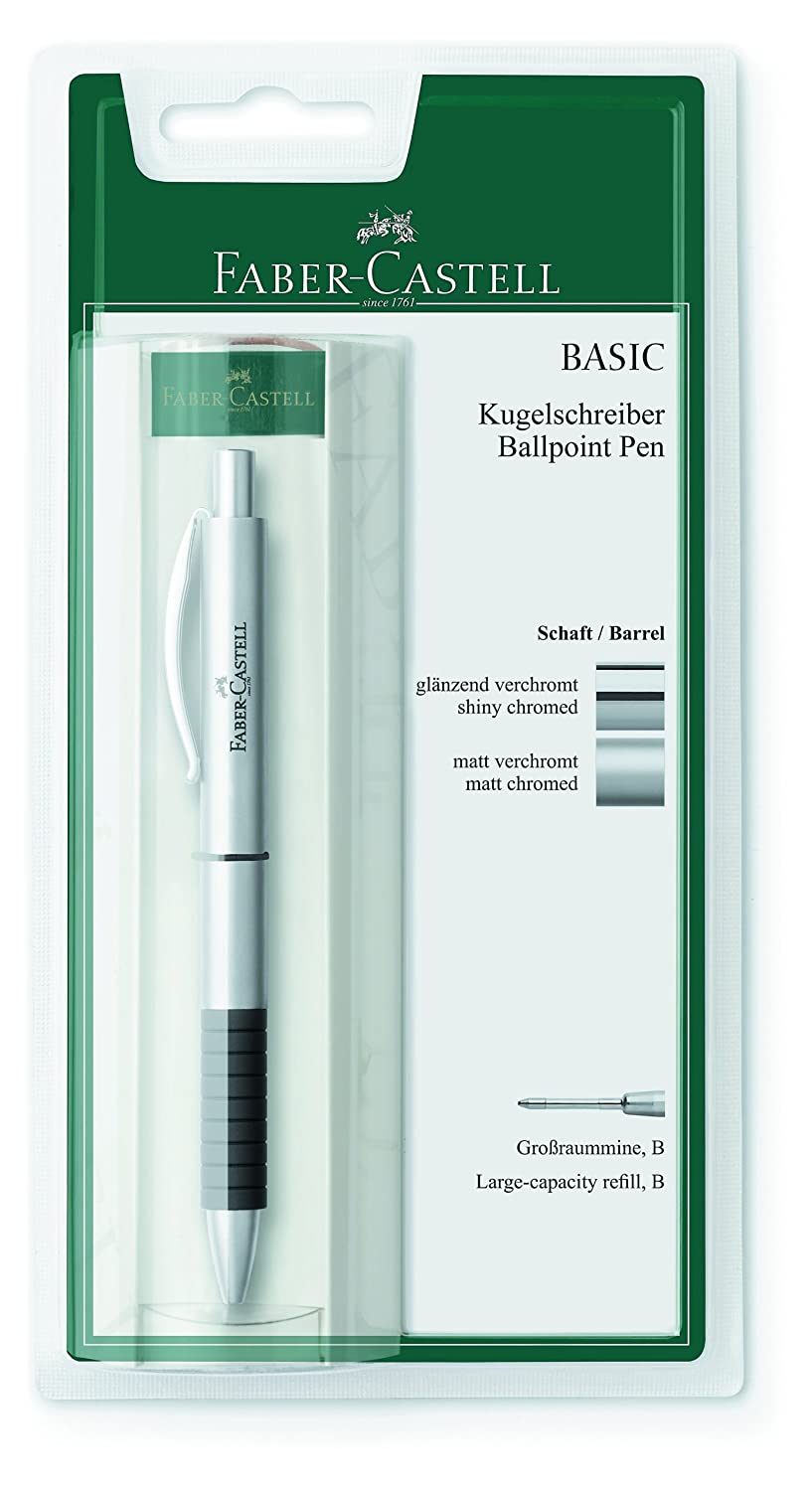 penna a sfera in metallo BASIC Shaft Colore: argento Faber-Castell 148 478 Refill: B