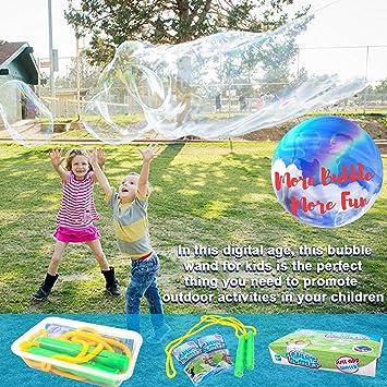 Juego de varita de burbujas gigante - Incluye 4 piezas para que ...