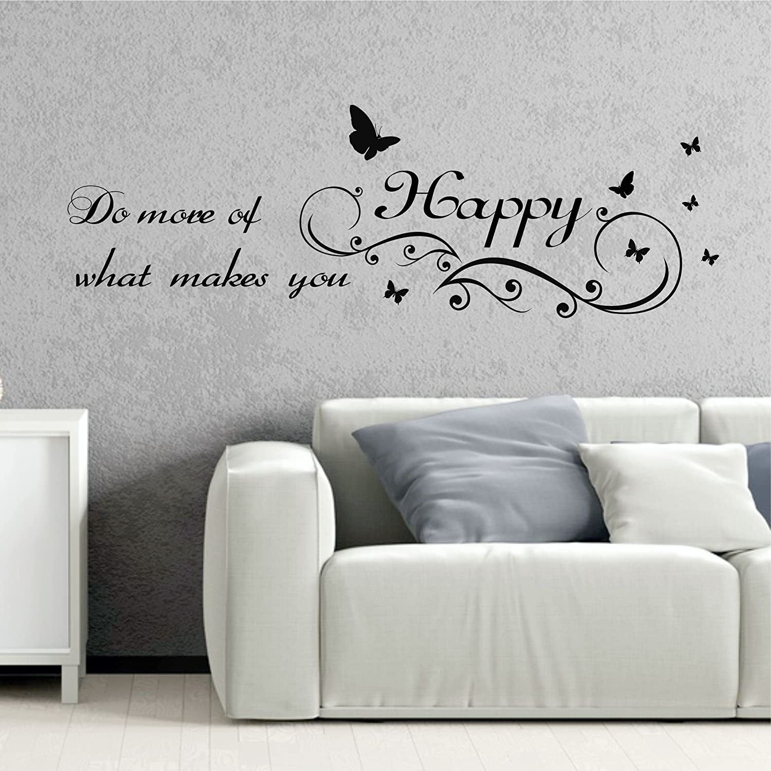 greenluup® XL Wandtattoo Spruch Motto Do more of what makes you ...