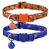 BoomBone Halloween Cat Collar Set of 2 Kitten Collars