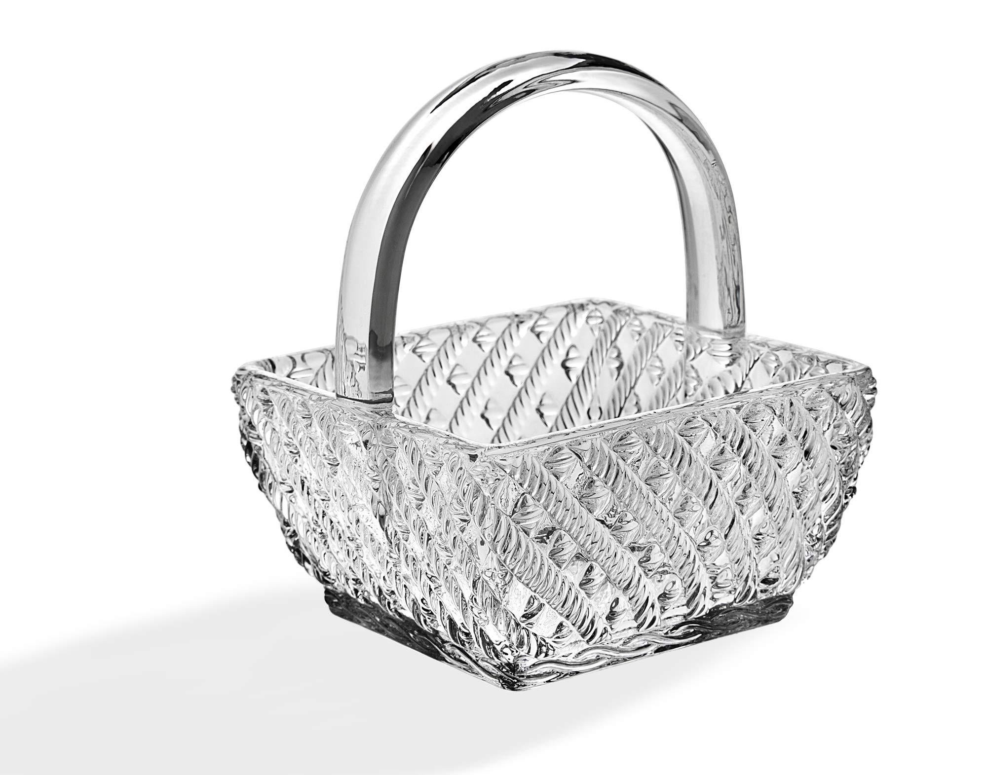 Godinger Candy Basket Crystal Storage Jar, Dish Box