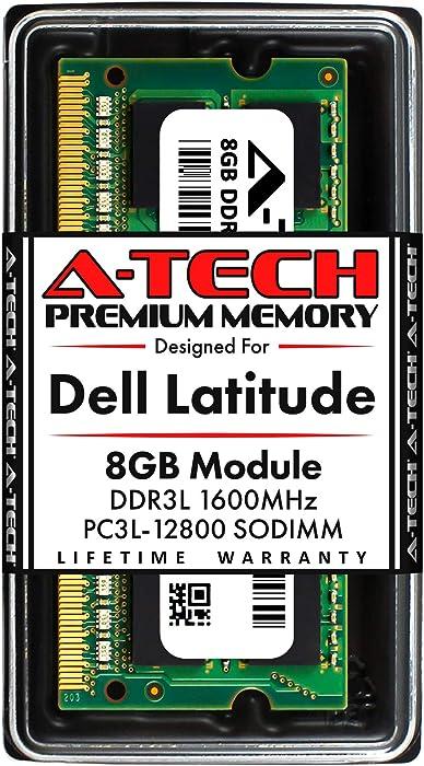 A-Tech 8GB RAM for Dell Latitude E6530, E6430, E6430s, 6430u, E6330, E6230, E5530, E5430, 3330   DDR3/DDR3L 1600MHz SODIMM PC3L-12800 Laptop Memory Upgrade Module
