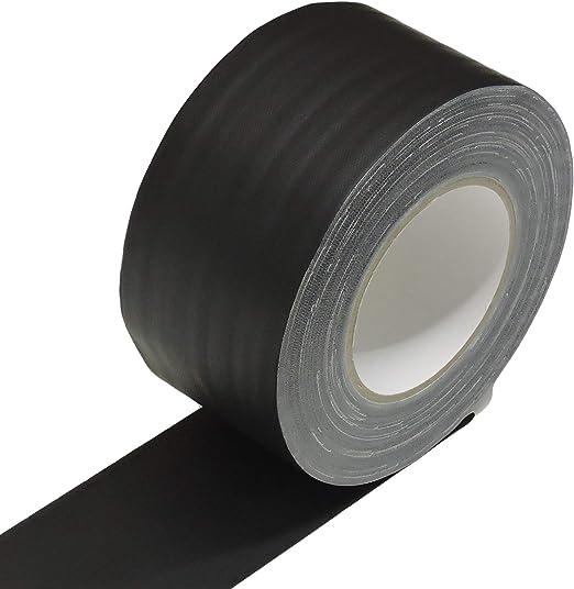 "BLACK 4/"" x 45 YARDS FULL ROLL GAFFERS TAPE"