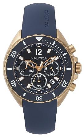 Nautica Reloj Analogico para Hombre de Cuarzo con Correa en Silicona NAPNWP007: Amazon.es: Relojes