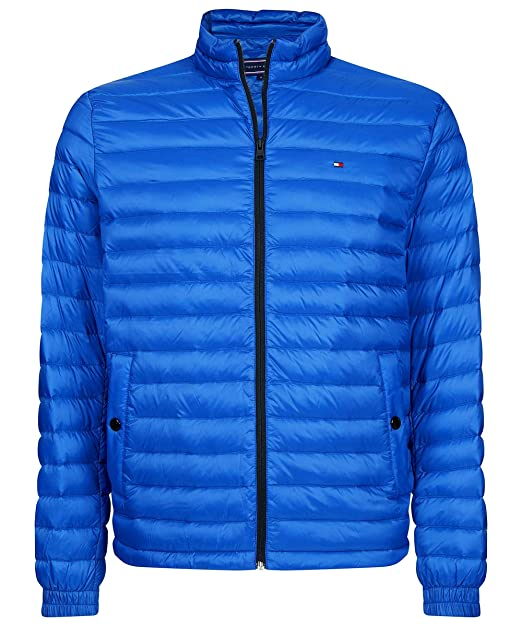 Tommy Hilfiger Hombres Packable Chaqueta Ligera Azul: Amazon.es: Ropa y accesorios