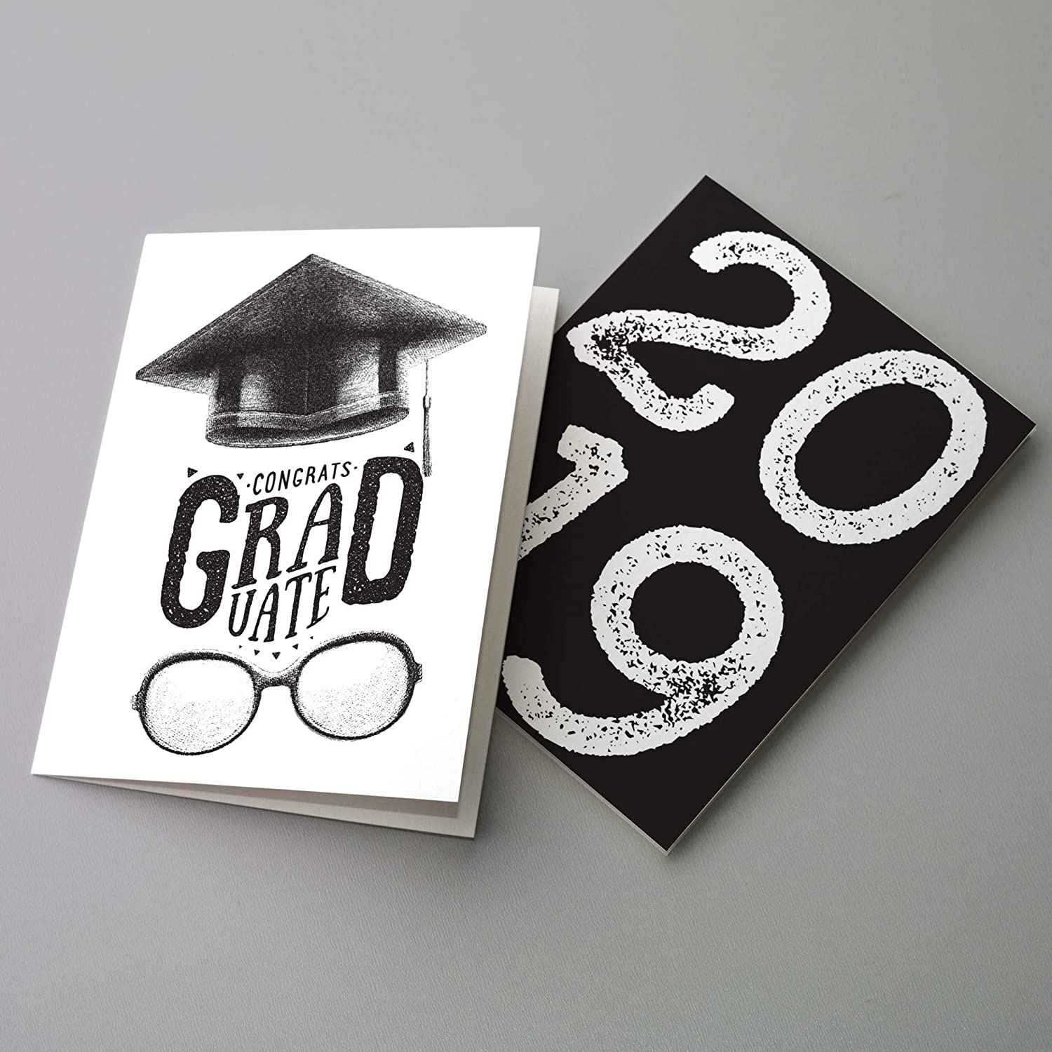 College Grad High School Graduation Present Greeting Cards Graduation Party 2019 Graduation Cards And Envelopes - 24 Class of 19 Black /& White Modern Grad Gifts Congrats Graduate Hooray