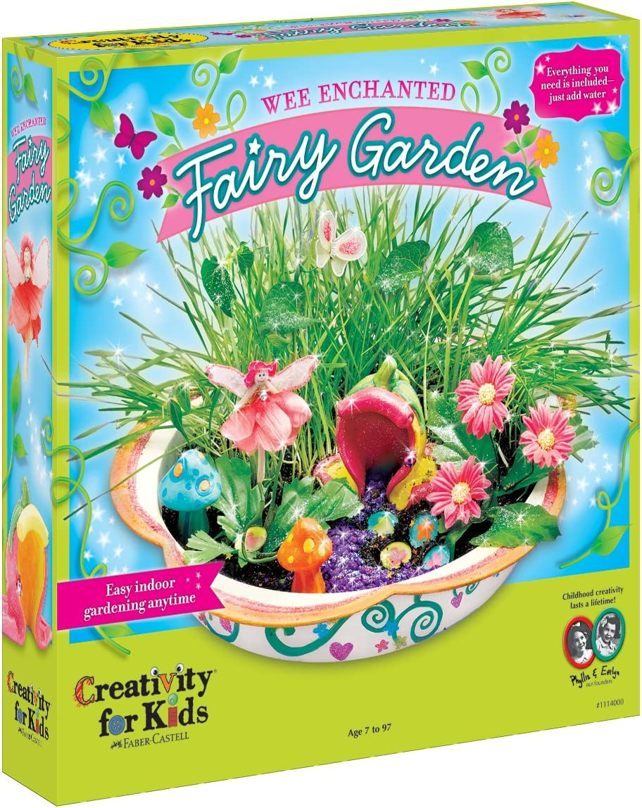 image of Wee Enchanted fairy garden set toys for girls, in a box.