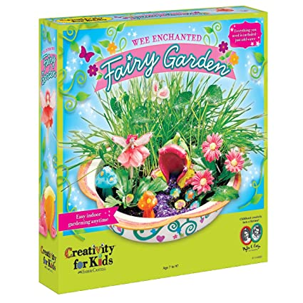 Amazon.com: Creativity For Kids Enchanted Fairy Garden Craft Kit   Fairy  Crafts For Kids: Toys U0026 Games