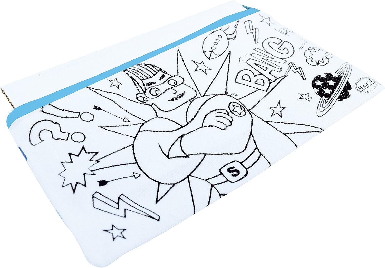 Aladine – 05311 – Estuche Escolar para Colorear (– Super héroe: Amazon.es: Juguetes y juegos