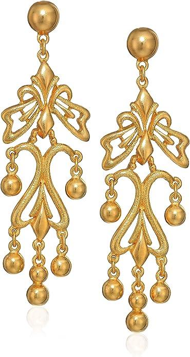 Amazon Com Ben Amun Jewelry Women S Helen Of Troy Gold Dangle Post Drop Earrings 3 Jewelry