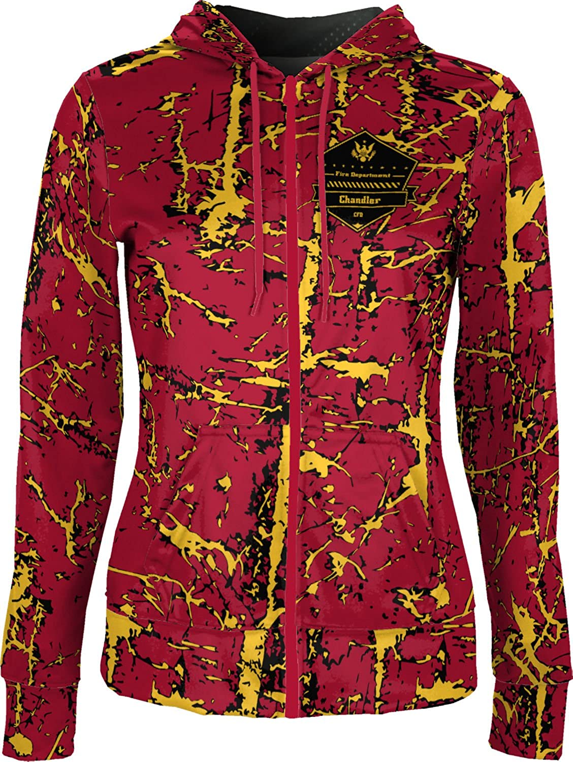 ProSphere Women's Chandler Fire Department Distressed Fullzip Hoodie