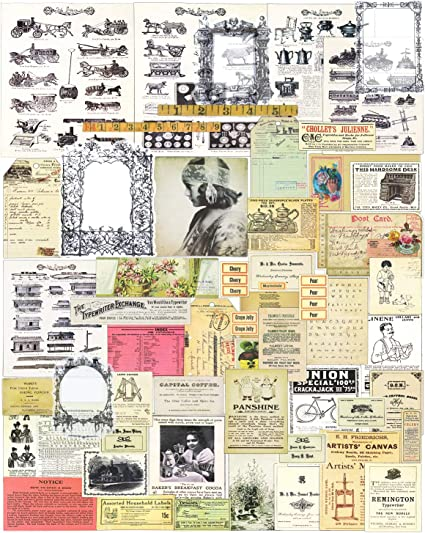 vintage paper 1980s /& 1990s fashion movies TV music theme images pictures text for art craft collage journal cards decoupage