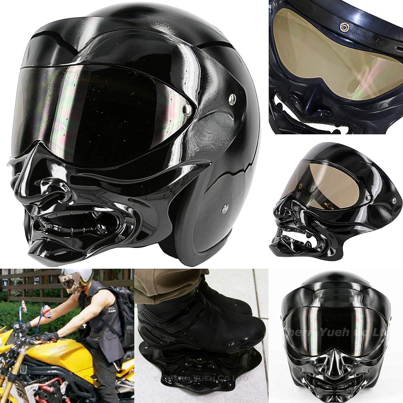 Protective Gear Demon Samurai Flip Up Shield for Motorcycle 3-Snap ...