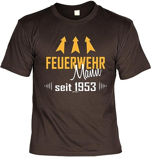 T Shirt Feuerwehrmann Seit 1953 Braun Geschenk 65 Geburtstag