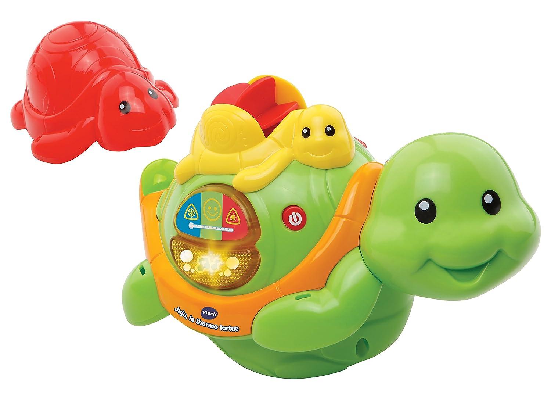 la Thermo tortue, 133 mm, 250 mm, 241 mm, 520 g, AA VTech Juju Juegos de ba/ño la Thermo tortue Juguetes y Pegatinas