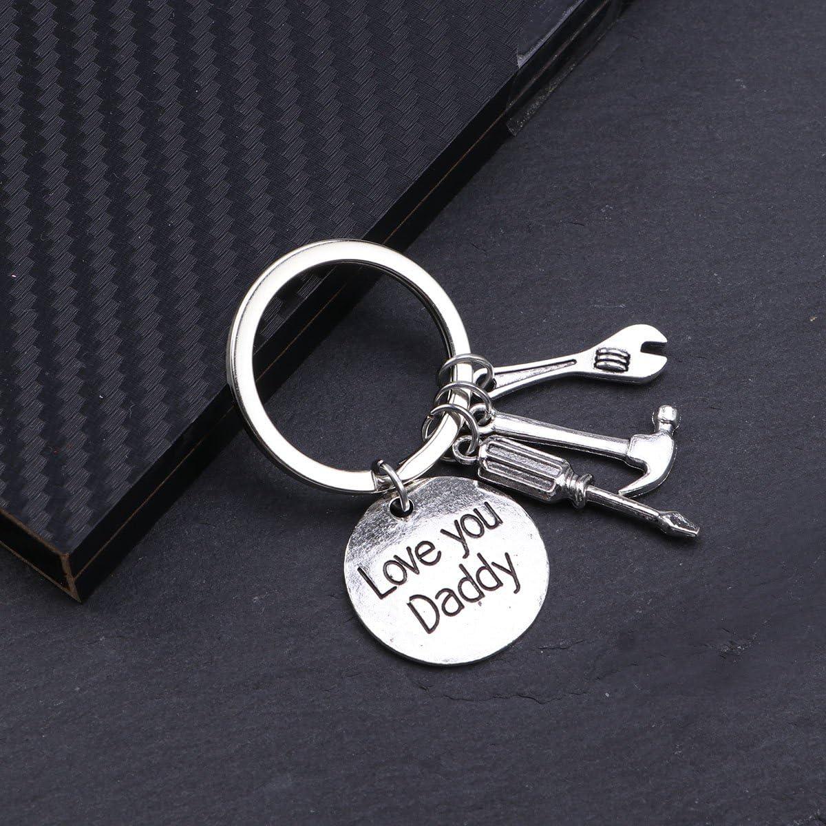 Mini r/éparation outils Porte-cl/és ounona P/ère Jour Porte-cl/és Cadeau pour Papa Keychain Anneau Clips Porte-cl/és KEYFOB Porte-cl/é pour voiture Home Keys organisation